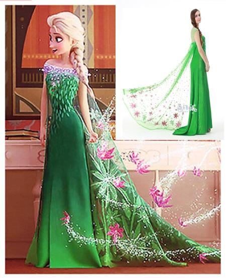 Elsa Anna Dress Adult Women girls Snow White Cinderella Cosplay Halloween 2015