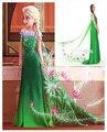 Elsa Anna vestido de mujeres niñas blancanieves cenicienta Cosplay de Halloween 2015