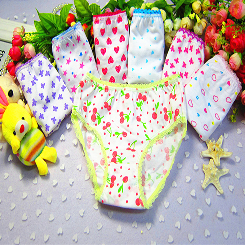 6pcs/pack Newborn Baby Girls Underwears Briefs Soft Breathable Cotton Panties Cute Printed Kids Toddlers Short Underpants Mixed
