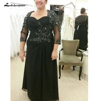 Sexy Illusion Lace Appliques Mother Dress Beaded Evening Dress Mother of the bride Dresses For Wedding