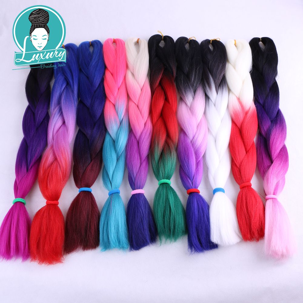 ombre kanekalon braiding hair26