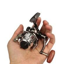 Goture Mini moulinet de pêche sur glace dhiver petit moulinet MN100 4.3:1 roue de pêche à la carpe pour accessoires de pêche dhiver pesca