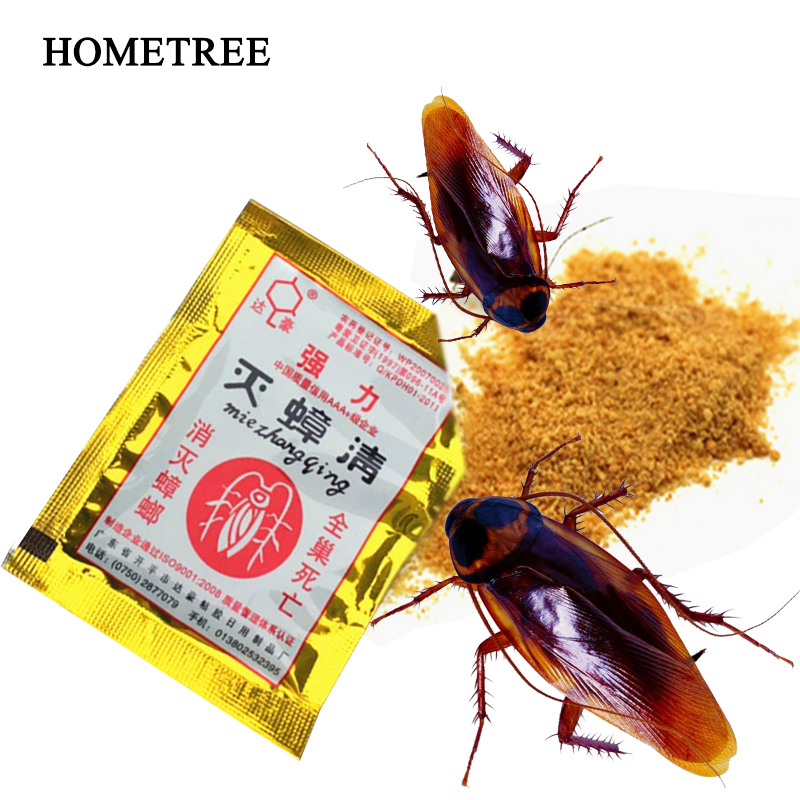 HOMETREE 6Pcs Roach Killer Effective Cockroach Kill Bait Powder Cockroach Repeller Killer Anti Pest Cockroach Powder Pest H55-in Traps from Home & Garden