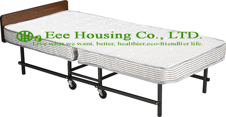 Hotel Extra Folding Bed,15cm Mattress Beds For Hotel Guest Room Single Size Roll Away Folding Hotel Extra Bed