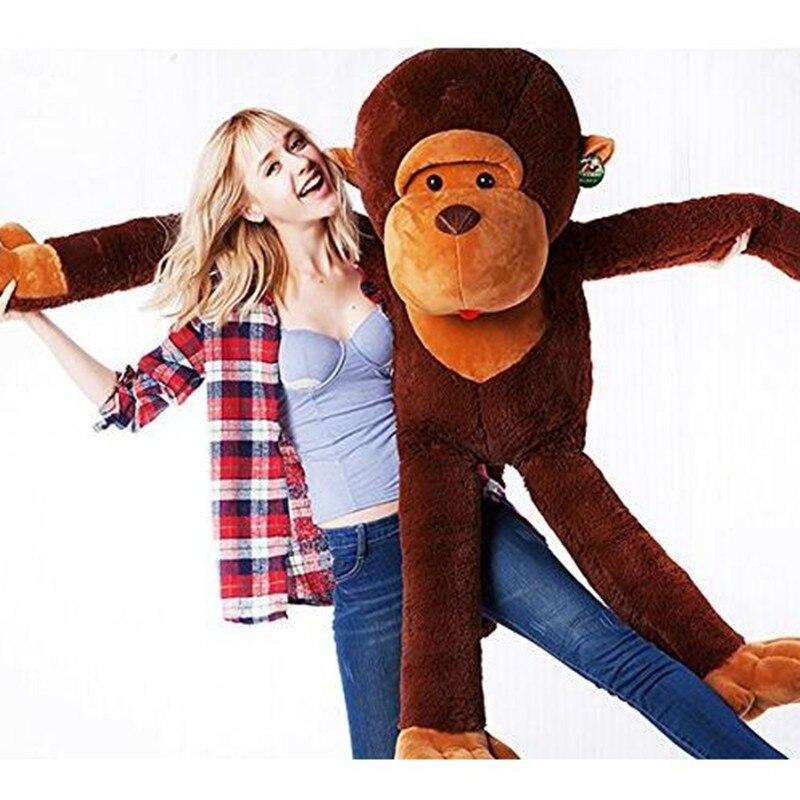giant huge large big stuffed animal soft plush brown monkey bear doll plush toy cheap. Black Bedroom Furniture Sets. Home Design Ideas