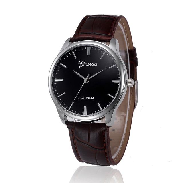 Retro Design Leather Band Analog Alloy Quartz Wrist Watch 10.27