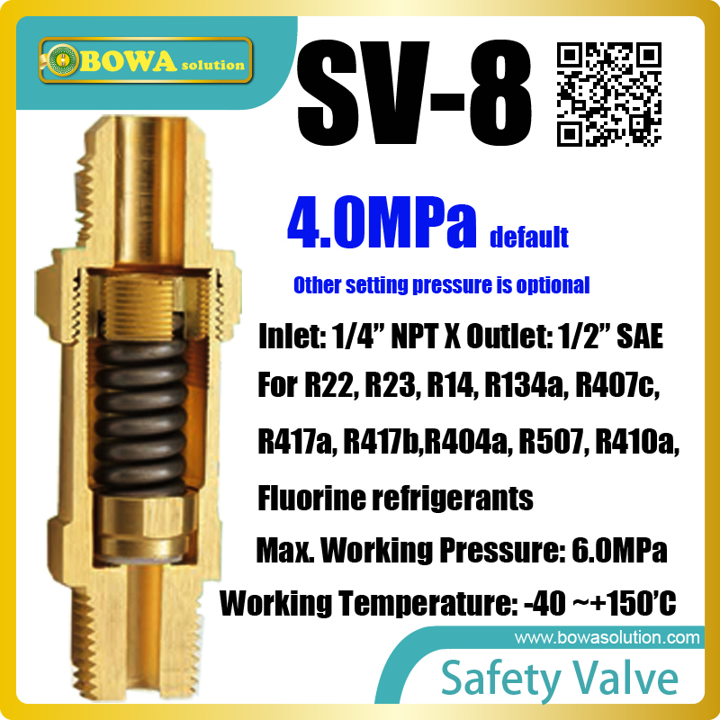 The pressure relief valves are designed specifically for use with double safety valve systems, replace DSV1 and DSV2 valves safety valves in angle way execution specially designed for protection of vessels and other components against excess pressure