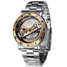 Top brand new нержавеющей стали роскошные водонепроницаемый мужские автоматические механические наручные часы для мужчин наручные часы IK раскраски
