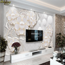 beibehang Custom photo wallpaper large mural wall stickers holy white luxury jewelry flowers living room TV backdrop wall flower dance 3d acrylic wall stickers living room bedroom tv backdrop creative wall decoration hot sale