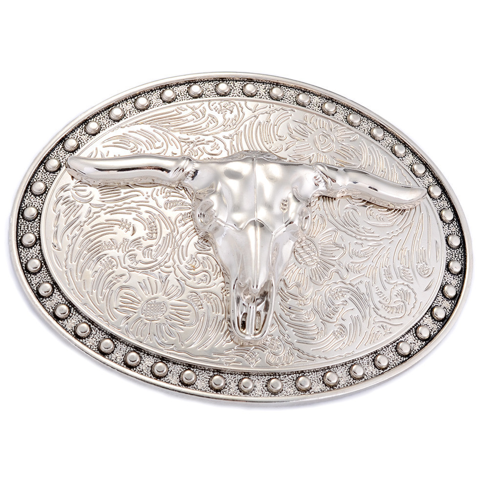 Faitheasy Luxury Cowboy Belt Buckle With Initial Letter Retro Belt Buckle Head Suit For 3.8-4 Cm Width Belt New Year Gifts
