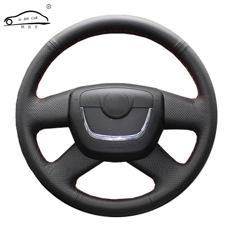 Trança de volante do carro para skoda octavia superb 2012 fabia skoda octavia a5 2012 2013 yeti 2009-2013/cobertura de volante