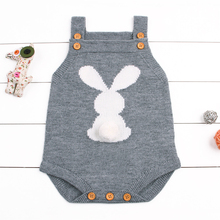 bcc58427e48f Cute Baby Boys Girls Bunny Knit Wool Rompers Sleeveless One Piece Summer  Jumpsuit Outfits Clothes Gray