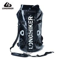 LONGHIKER 30L/20L PVC Beach Waterproof Dry Backpack Bag For Swimming Water Proof Impermeable River Trekking Rafting Bag Sporttas