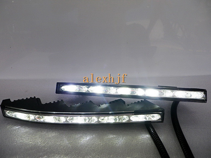 July King LED Daytime Running Lights DRL LED Front Bumper Fog Lamp Case for Toyota Land Cruiser FJ200 2010~12, free shipping july king led light guide daytime running lights drl case for toyota land cruiser 2010 12 1 1 replace original decorative frame