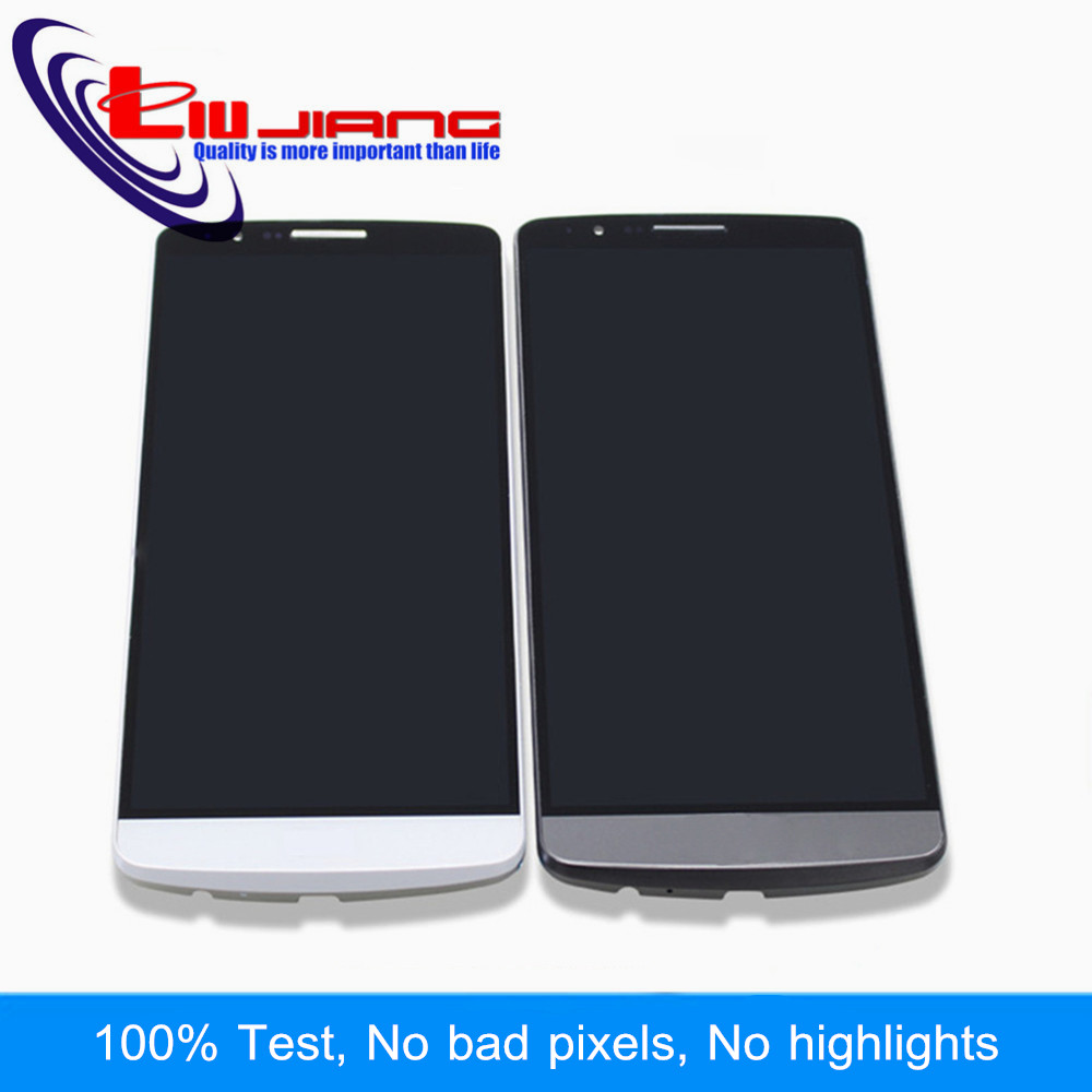 Liujiang 5.5 Screen for LG G3 D850 D851 D855 D858 LCD Display Touch Screen Digitizer Assembly with Frame Replacement parts