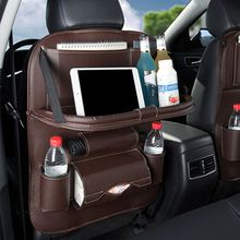 New Car Seat Storage Hanging Bag Leather Belt Tray Folding Plate Accessories for SUV truck Minivan Stroller