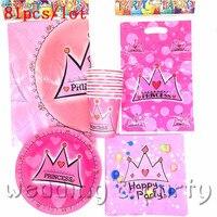 High Quality Pink Crown Cartoon Children Favor Happy Birthday Party Children S Day Supplies Decoration Baby