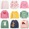 New 2018 Brand Quality 100% Terry Cotton Sweatshirts Baby Girl Clothes Children Clothing t shirts Bebe Girls Hoodies Kids Blouse