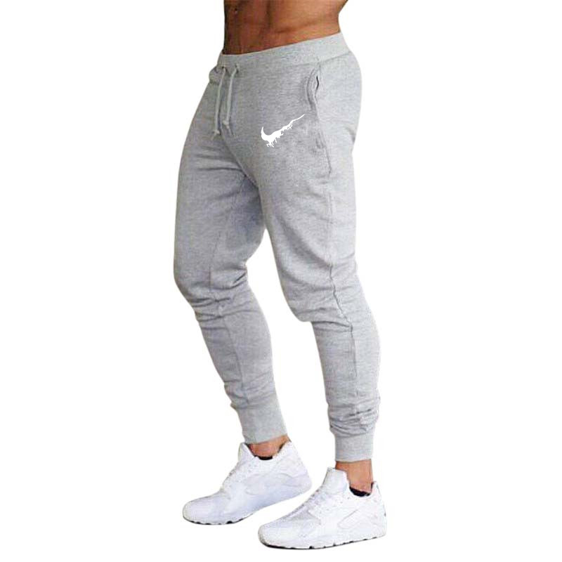 2019 Spring Autumn Brand Gyms Men Joggers Sweatpants Men's Joggers Trousers Sporting Clothing The High Quality Bodybuilding Pant(China)