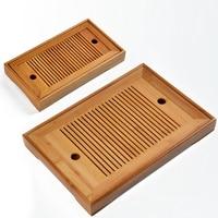 Heißer Verkauf 2 Größe Kung Fu Tee Set Natürliche Holz Tee Tablett Rechteckigen Traditionellen Bambus Puer Tee Tablett Chahai Tee tabelle Zeremonie-in Teebretter aus Heim und Garten bei