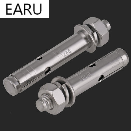 Stainless Steel Expansion Screw Bolt Lengthened Bursting Wire Metric Standard for Air Conditioner M6 * 50/60/70/80 10 pieces metric m6 30 mm 201 stainless steel eyelet bolt fasteners