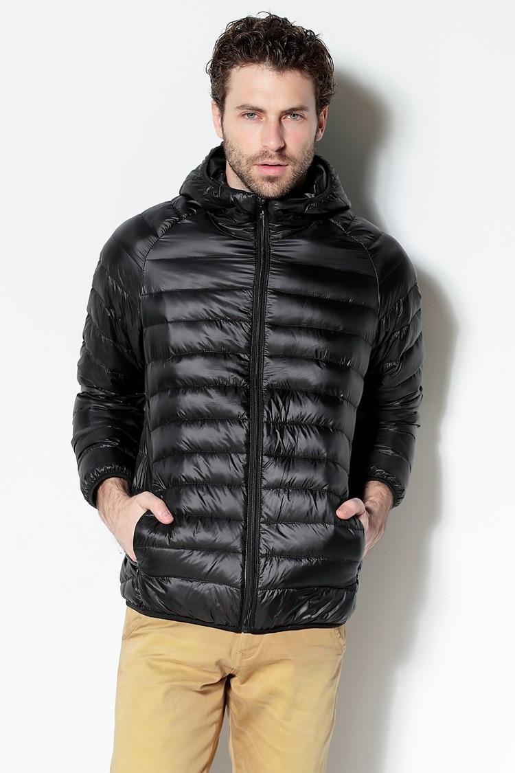 Men White Duck Down Jacket 2020 New Portable Hooded Down Coat Ultralight Men Winter Coat Warm Thermal Down Parkas 10