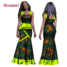 2017 New Arrival African Dresses for Women Dashiki Clothing Africa Traditional Long Print Sexy Plus Size WY1278