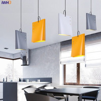 IWHD Creative Books Droplight Iron Simple Modern LED Pendant Light Fixtures Dining Room Loft Hanging Lamp Indoor Lighting