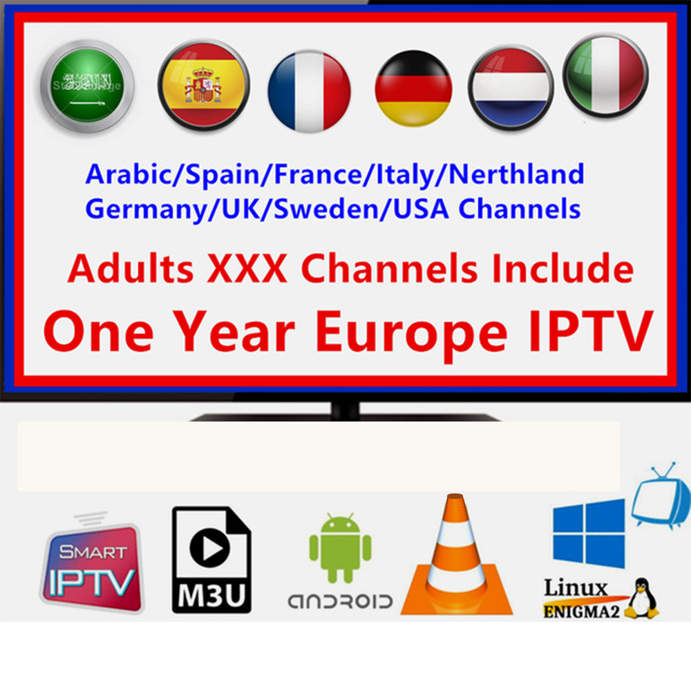 1 Year 7000+Live Europe IPTV French Dutch Spain Portugal UK IPTV Subscription Arabic Iptv Free Sports Android Tv Box Smart Tv Pc