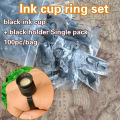 Single Package Ink Ring Holder And Sponge Cups for Permanent Makeup Accessories
