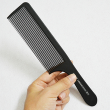 Fine Cutting Comb Black Hair Salon Comb with Pro Barber Hairdressing Comb