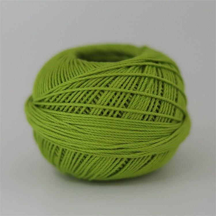 Размер 3 хлопковая Жемчужная Нить египетская длинная Штапельная хлопковая пряжа газированная двойная мерсеризованная 6 нитей плетение 50 грамм на шарик - Цвет: 680