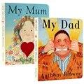 2 книги/набор детские английские Картонные Книги мой папа моя мама Энтони Браун детская книжка-раскраска ранняя развивающая обучающая игру...