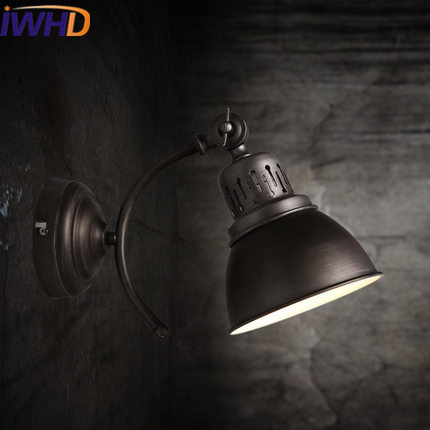 Led Indoor Wall Lamps Iwhd Angle Adjustable Sconce Loft Industrial Vintage Wall Lamp Black Retro Wandlamp Led Wall Light Up Down Home Lighting To Clear Out Annoyance And Quench Thirst