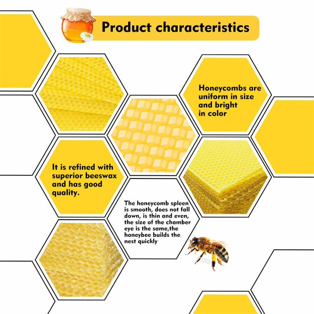 5-20 adet Petek Balmumu Çerçeveleri Arı Kovanı Taban Levhalar Arıcılık Vakıf Bal Kovanı Ekipmanları Arı Malzemeleri ve xs