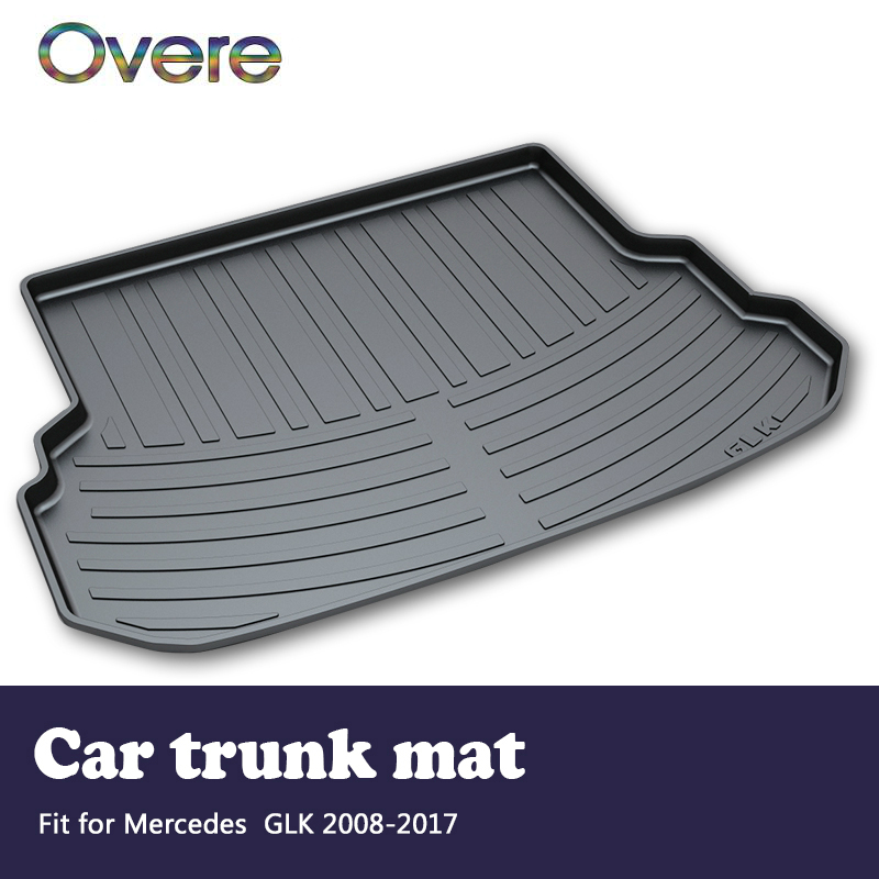 Overe 1Set Car Cargo rear trunk mat For Mercedes GLK X204 2008 2009 2010 2011 2012 2013 2014 2015 2016 2017 Mat Accessories car auto accessories rear trunk trim tail door trim for subaru xv 2009 2010 2011 2012 2013 2014 abs chrome 1pc per set