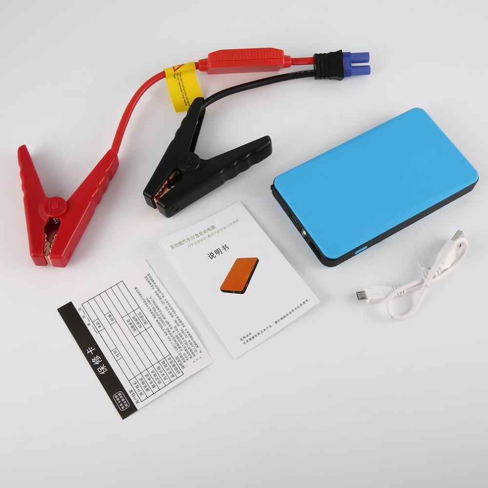 4 colore Salto de arranque 12 V 30000 mAh multifunción coche Salto de arranque emergencia Baterías portátiles Iluminación LED para dispositivos digitales carga