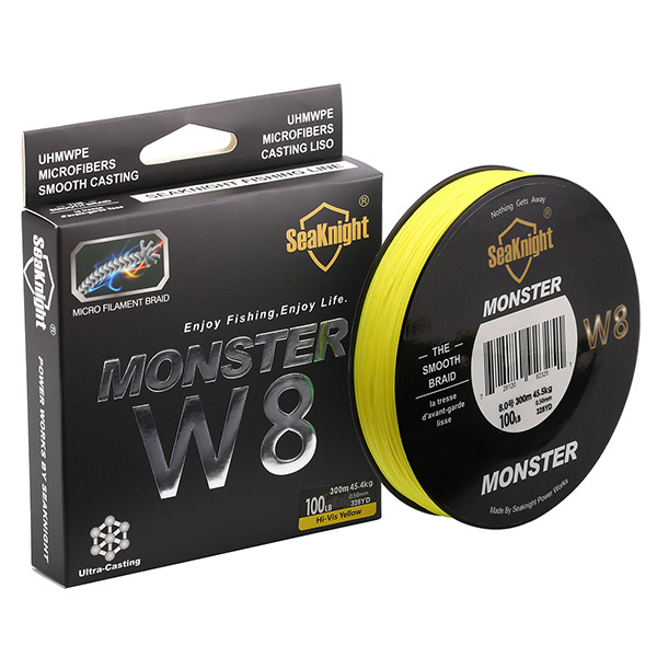 Quality Monster W8 Super Strong 300M 8 Strands Weaves PE Braided Fishing Line 20LB 30LB 40LB 50LB 80LB 100L Rope Multifilament super weird heroes outrageous but real