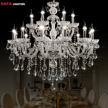 מודרני נברשת קריסטל אור מודרני נברשת תאורת גביש אורות בית מקורה מתקן חדר נברשות זוהר de cristal