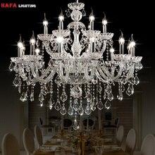 Moderna luz do candelabro de cristal moderna iluminação luzes de cristal casa interior luminária sala lustres lustre de cristal
