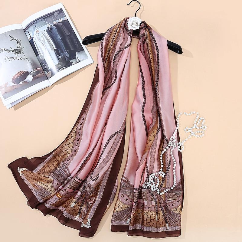 Brand   Scarf   180x90 Women Silk   Scarf   Butterfly Printing Soft Long Shawl Large Silk   Wrap   NEW Fashion Women   Scarves   Hijabs SK045