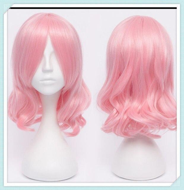 Project Yuyuko Medium Long Pink Curly Cosplay Wig malaysian rosa body silk  base closure uk indian 95a6c79dc6e9