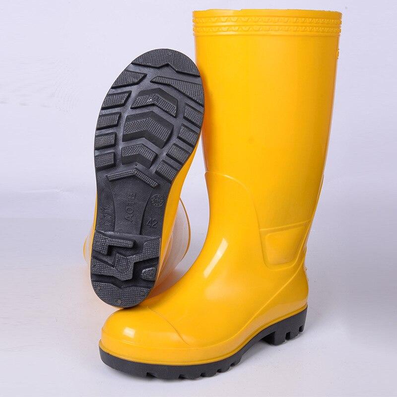Online Shop 2016 fashion 40-45 plus size rain boots pure color ...