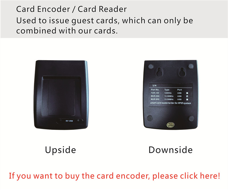 Card encoder / Card reader for Electornic Door Lock RFID Card Hotel System digital electric best rfid hotel electronic door lock for flat apartment