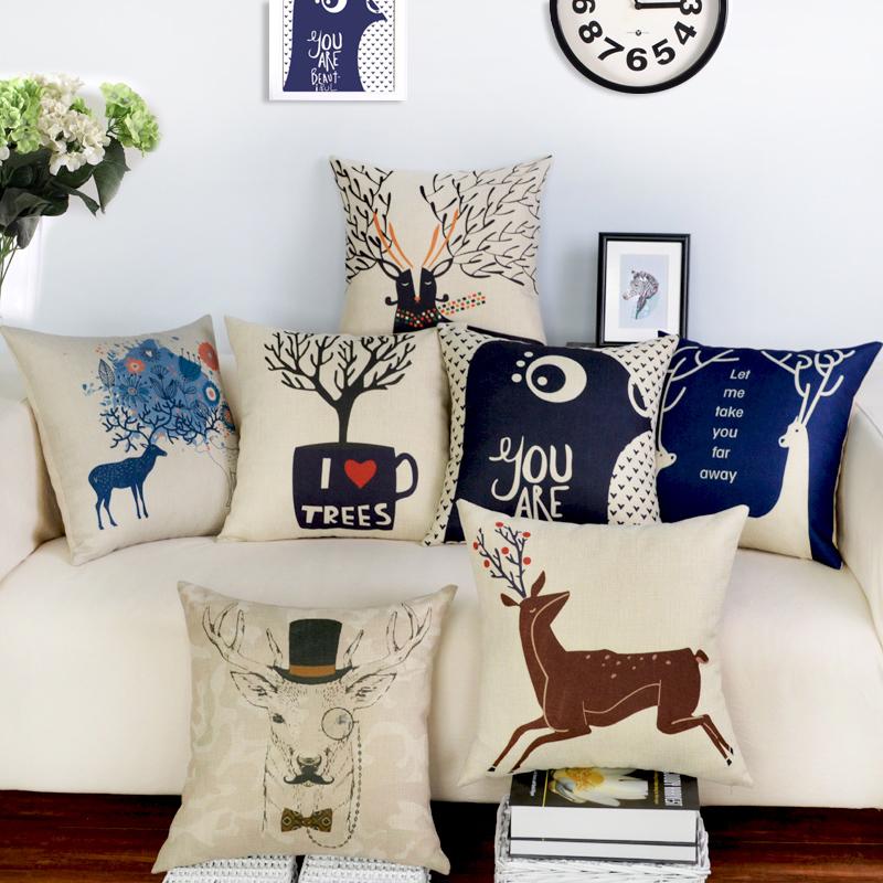 Top Finel 2016 Nordic Decorative Cushion Covers Cotton Linen Throw Pillow Cover for Sofa Decor Scandinavian Style Pillow Cases