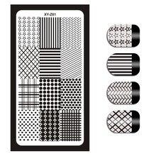 1Pcs Nagel kunst, Platten Vorlage Geometrische Blumen Schmetterling Bild Schablonen Maniküre Polnischen Transfer Werkzeuge Für Nagel XYZ 01