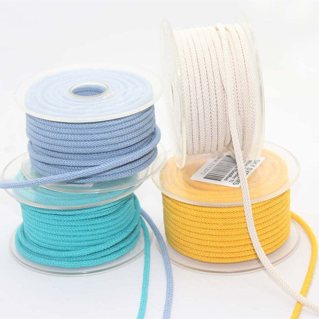 3mm sky system Twisted Twine Milan Cord Jewelry Accessories Macrame Rope  Necklace String Cords 15m/roll NO.1~19