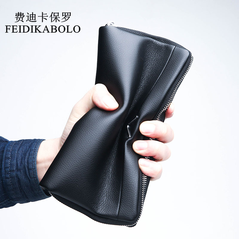 FEIDIKABOLO Soft Male Leather Purse Long Men's Clutch Wallets Man Purses Handy Bags Men Portomonee Dollar Price Carteras Mujer 2016 luxury male 100% original leather purse men s clutch wallets handy bags business carteras mujer wallets men dollar price