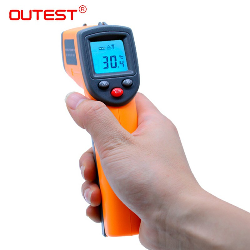 GS320 Non contact Digital Laser infrared thermometer -50~360C (-58~680F) Themperature Pyrometer IR Laser Point Gun gm500 700 900 non contact digital laser infrared thermometer themperature pyrometer ir laser point gun ems 0 1 1 0
