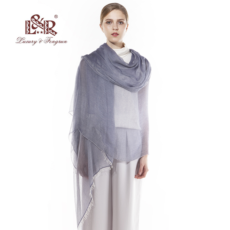2018 Luxury Brand Women Silk Scarf Foulard Modal Chiffon Hijab Kvinna - Kläder tillbehör - Foto 4